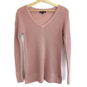 American Eagle Womens Knit Top Light Pink Size XS
